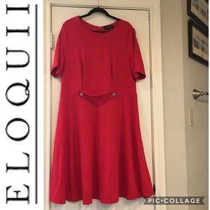 Eloquii - Red Career Dress - Size 16